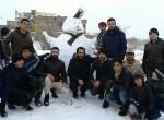 جشنواره آدم برفی در قوشچی برگزار شد