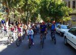 اولین همایش ترکیبی دوچرخه سواری واسکیت همگانی در مهاباد