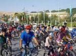 همايش تركيبي دوچرخه سواري واسكيت همگاني به مناسبت روز جهانی جوان در مهاباد برگزار شد