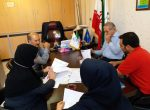 جلسه ریاست محترم هیات ورزش های همگانی با اعضاي هيات